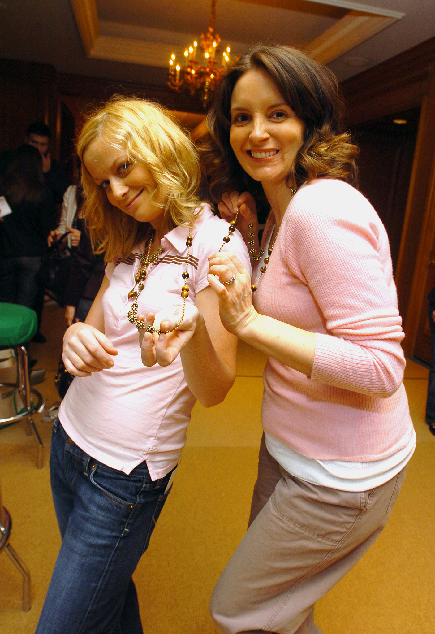 The funny friends showed off their swag at an event in May 2005.
