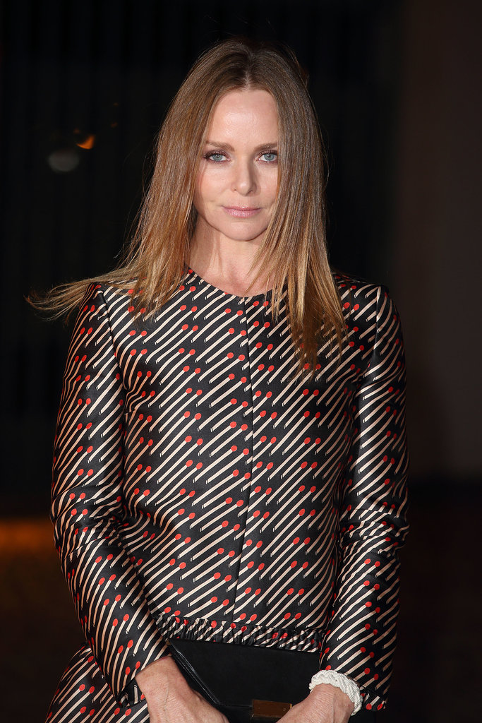Stella McCartney went for a sleek look at the London Fashion Week event.