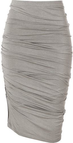Donna Karan Hemp Crushed Skirt