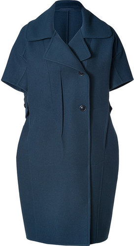 Jil Sander Pavone Coat in Bluestone