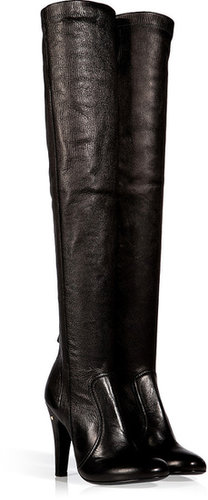 Laurence Dacade Stretch Leather Saskia Over-the-Knee Boots in Black