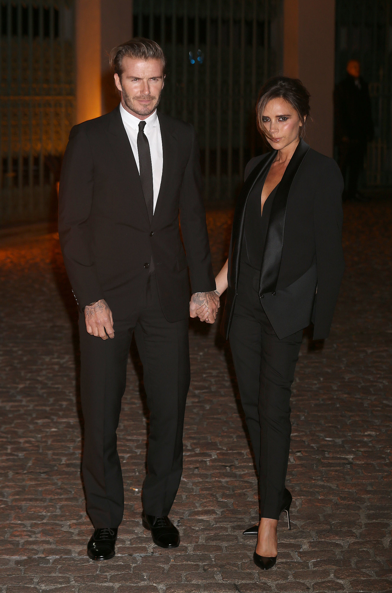 David and Victoria Beckham made a handsome pair while attending The Global Fund's Green Carpet Challenge event.