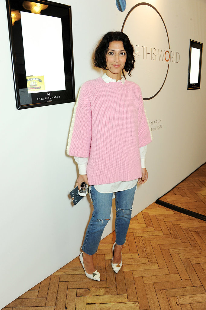 Yasmin Sewell looked pretty in her layered pink design while attending the Anya Hindmarch show.
