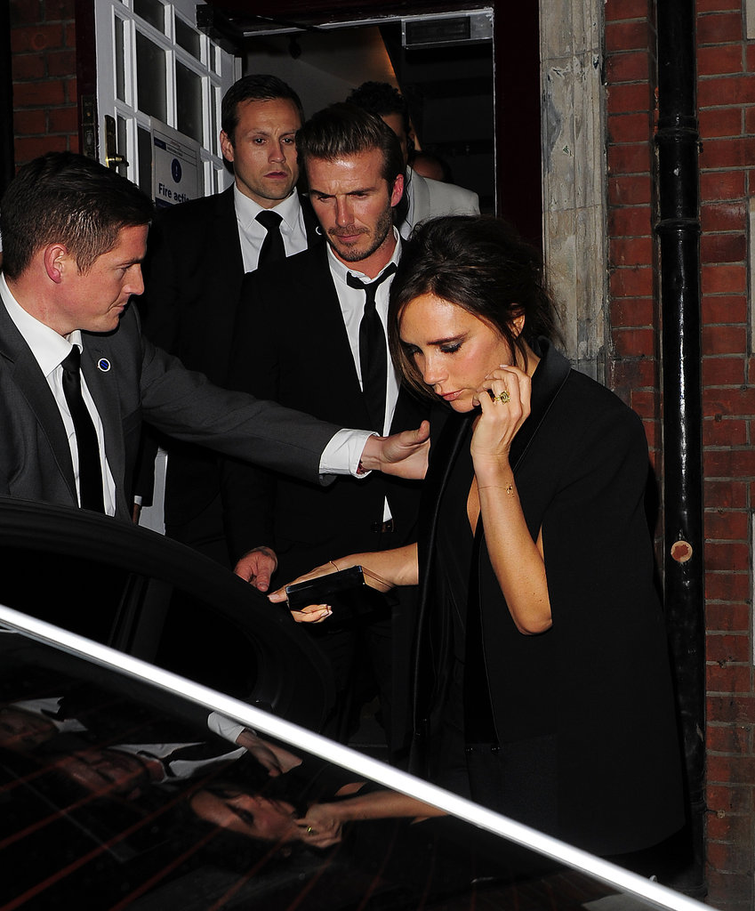 Victoria Beckham and her husband, David Beckham, attended the AnOther magazine party in London.