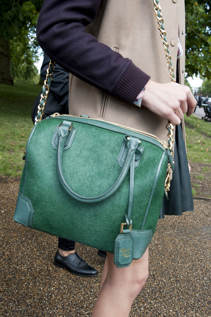 We're totally mesmerized by this emerald-green hue.