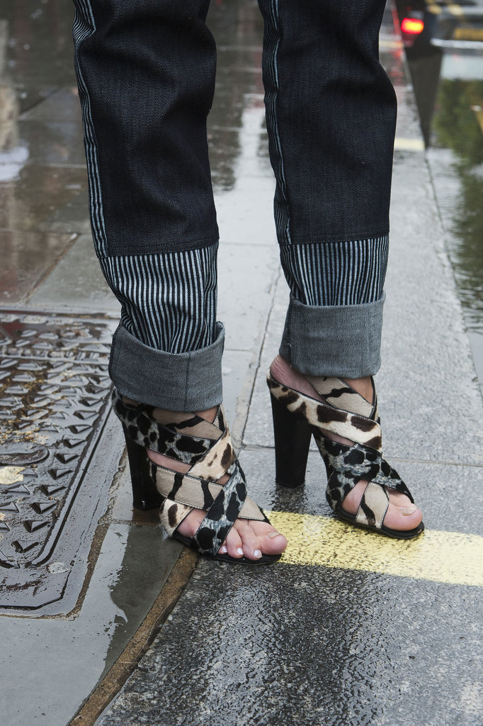 A little cooler than your average rainy-day heels.