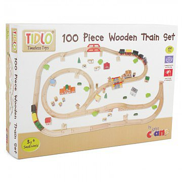 Tidlo Timeless Toys 100 Piece Wooden Train Set