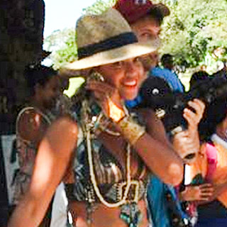 Beyonce at a Public School in Brazil | Pictures