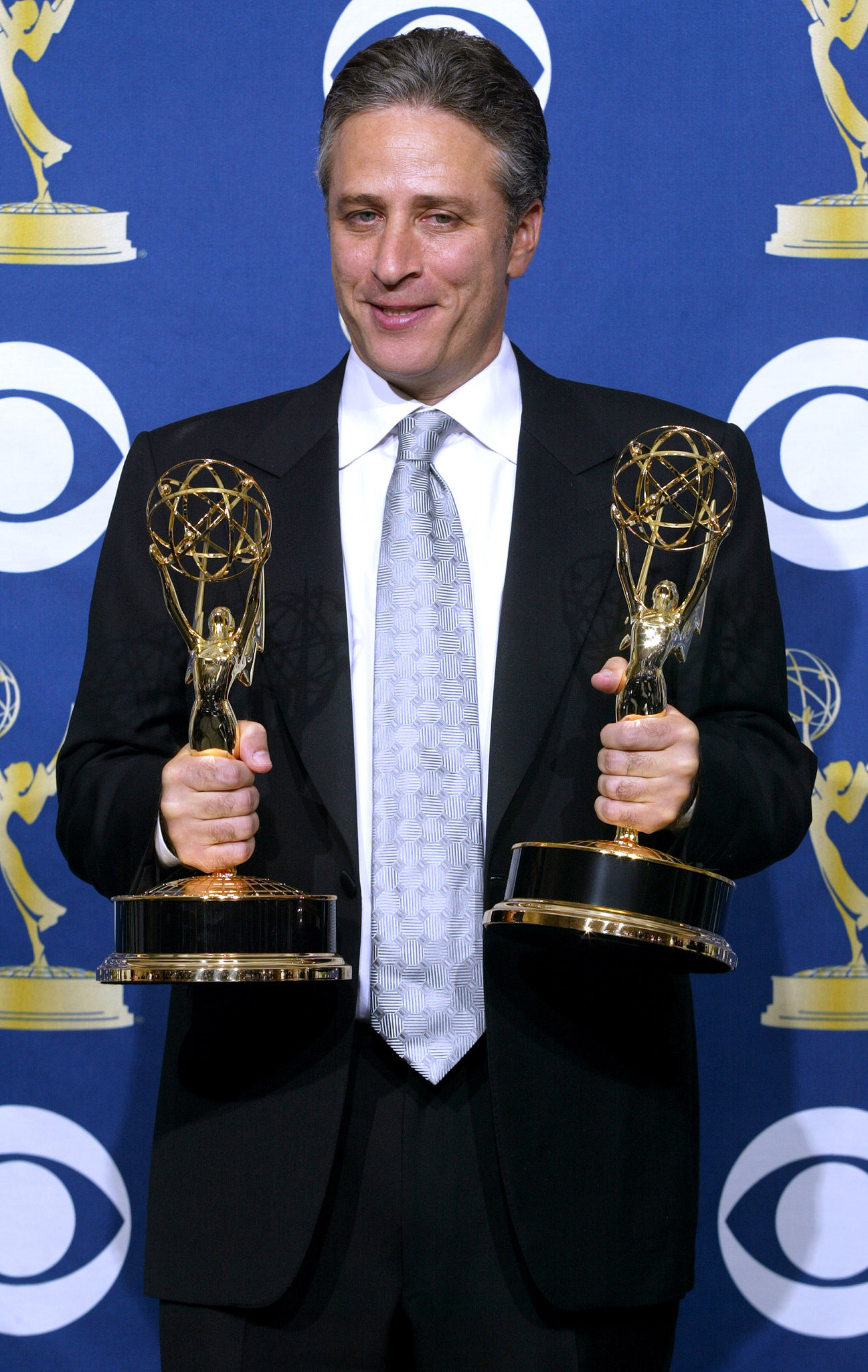 Jon Stewart had his hands full of prizes in 2005.