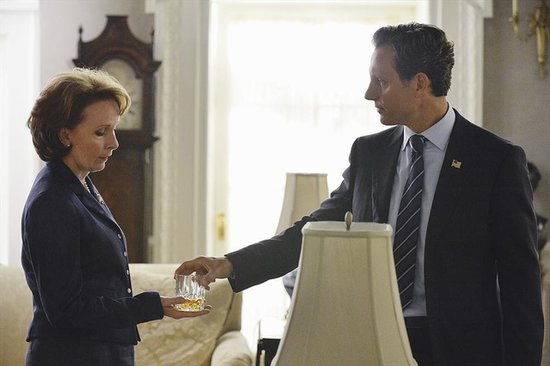 Kate Burton in the season premiere of Scandal.
