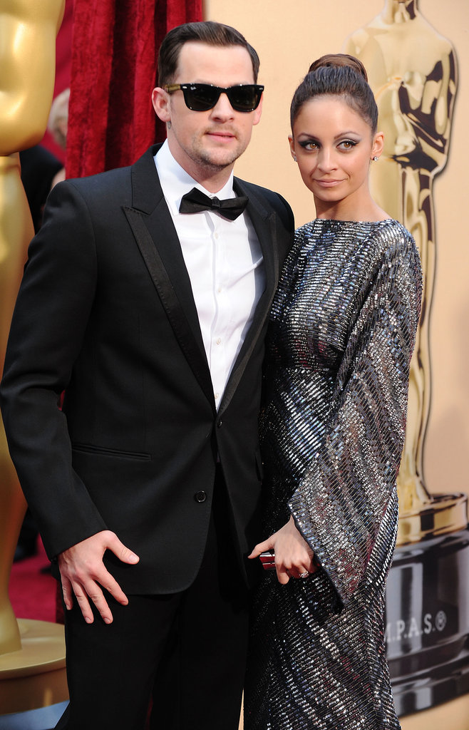 Nicole Richie and Joel Madden kicked the glamour up a notch for the Oscars red carpet in March 2010.