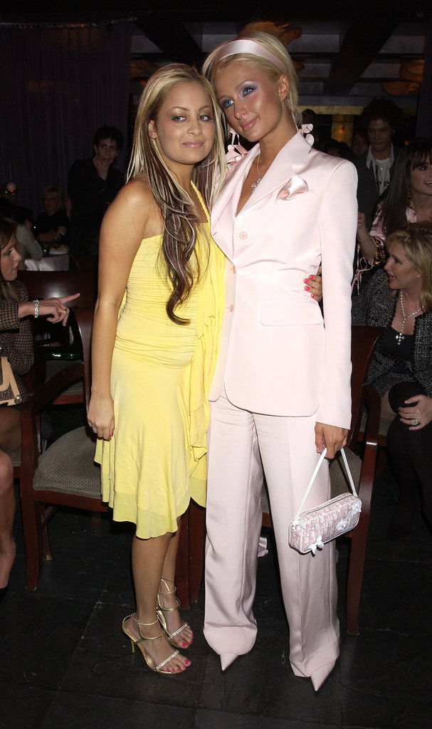 Nicole and Paris showed up in monochromatic looks for The Simple Life premiere party in December 2003.