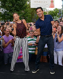 Nicole Richie broke it down with Mario Lopez during a July 2013 appearance on Extra in LA.