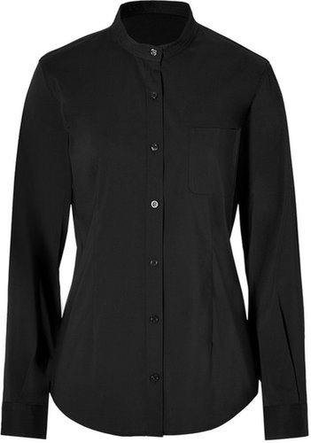 Steffen Schraut Madeleine Stand-Up Collar Blouse in Black