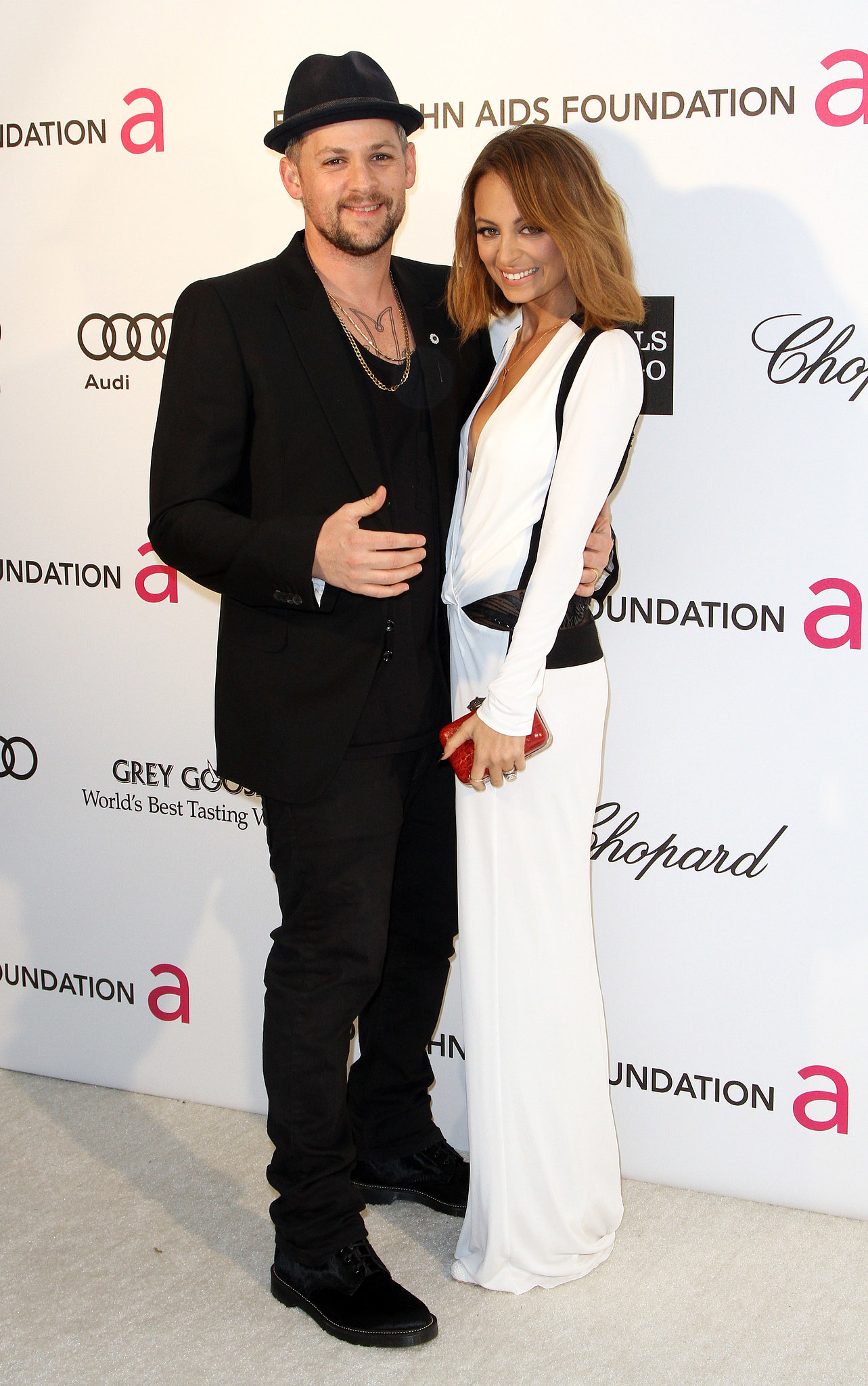 Nicole Richie and her husband, Joel Madden, were on hand for Elton John's annual Oscars viewing party in LA in February 2013.
