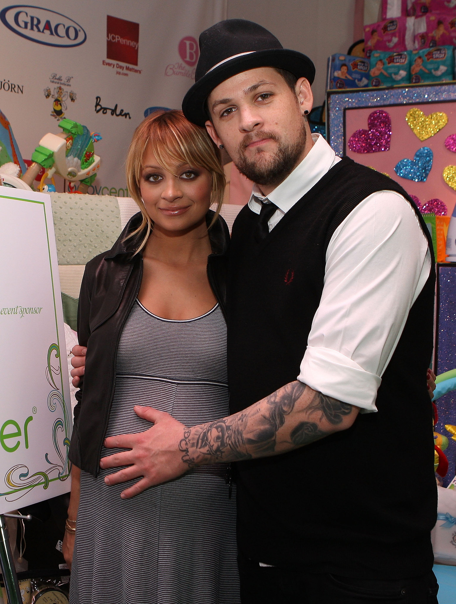 In December 2007, Nicole Richie showed off her growing baby bump while launching The Richie Madden Children's Foundation with Joel Madden, who was then just her boyfriend.
