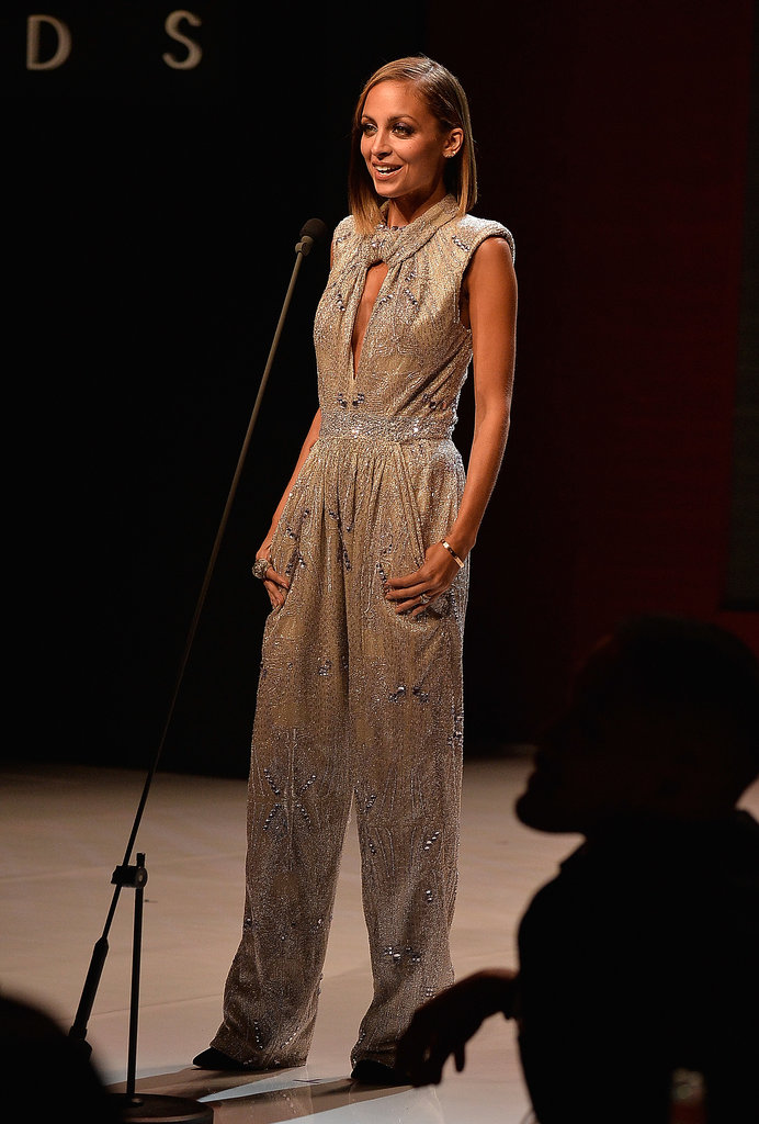 Nicole Richie sported a sequin Giorgio Armani jumpsuit while hosting the Style Awards in NYC in September 2013.