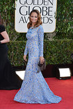 Nicole Richie was a vision in blue when she walked the red carpet at the Golden Globes in LA in January 2013.