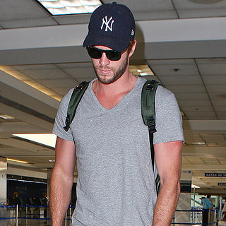 Liam Hemsworth at LAX After Miley Cyrus Breakup