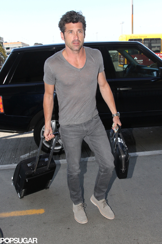 Patrick Dempsey at the Airport | POPSUGAR Celebrity