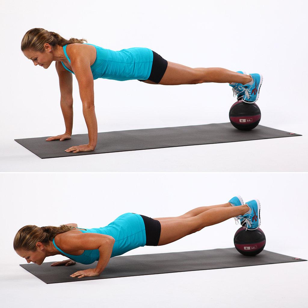 Feet on Medicine Ball Push-Up