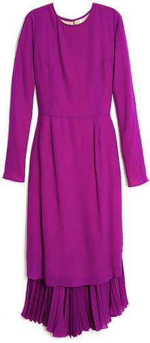 Tia Cibani Long Sleeve Pleat Dress