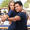 Mario Lopez and Elizabeth Berkley Dancing on Extra 2013