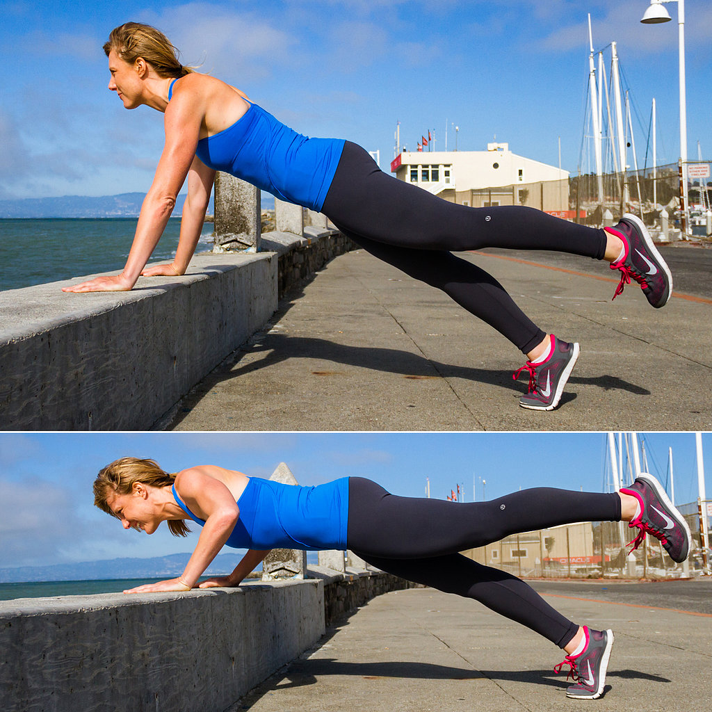 Elevated One-Legged Push-Up