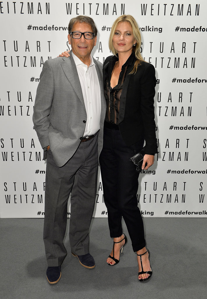 Kate Moss posed with Stuart Weitzman.