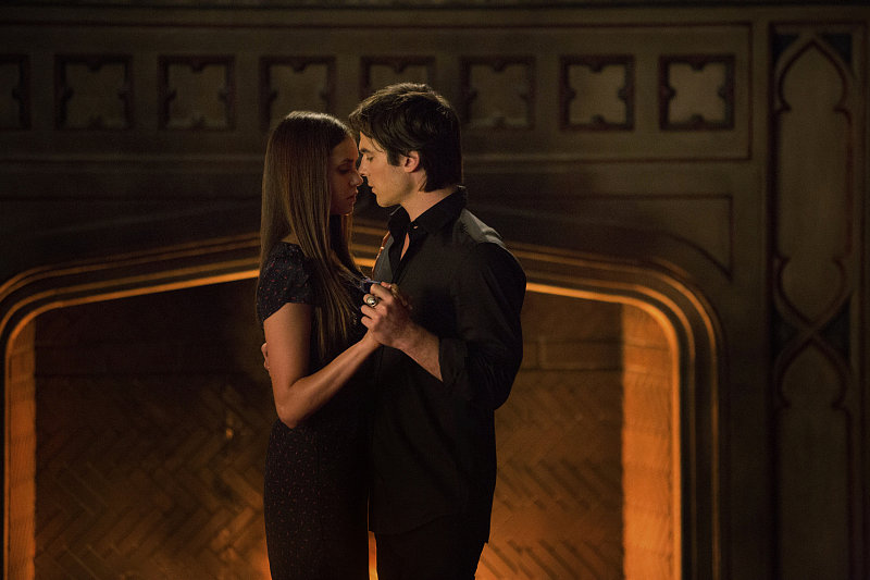Damon and Elena From The Vampire Diaries