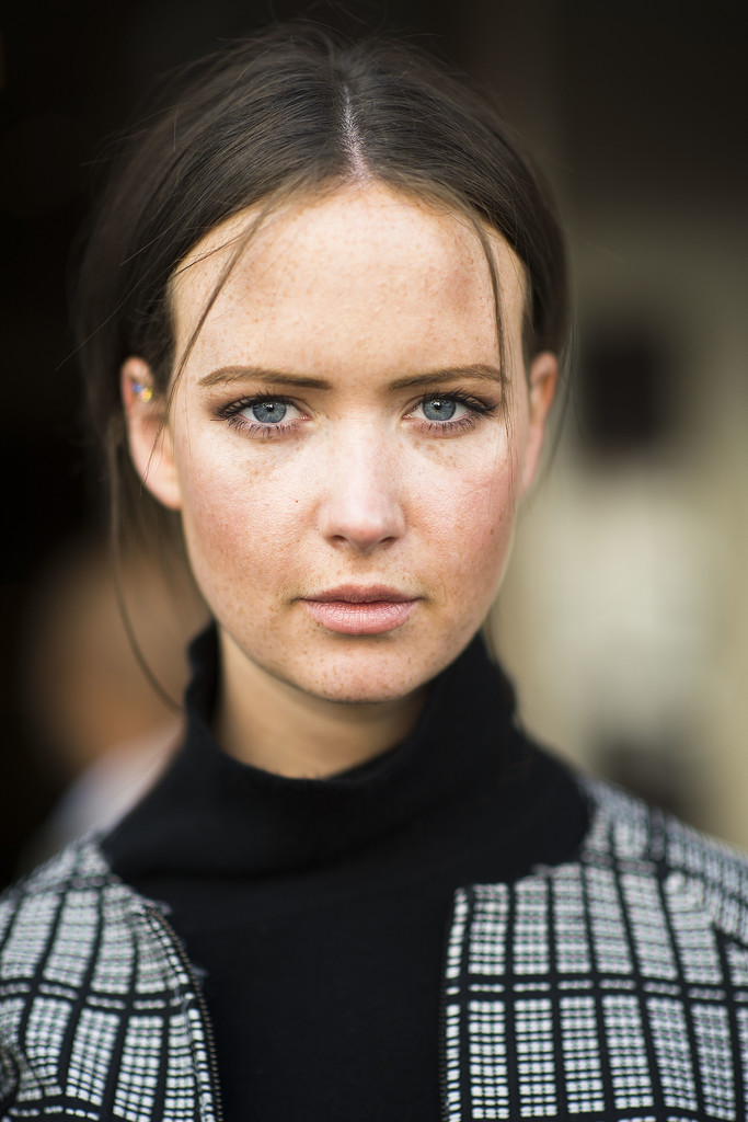 A wispy ponytail and a sprinkling of freckles are sometimes all you need for a fantastic beauty look. Source: Le 21ème | Adam Katz Sinding