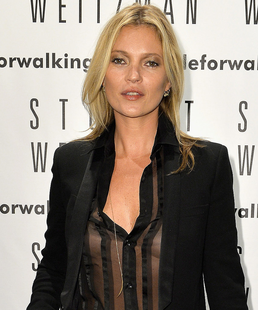 Kate Moss celebrates the Stuart Weitzman flagship store opening.