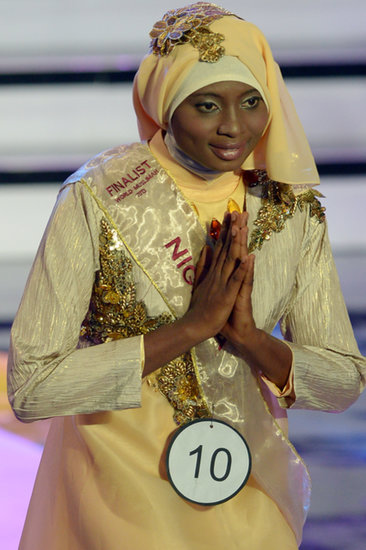 The contestant who eventually won recited Koranic verses during the competition.