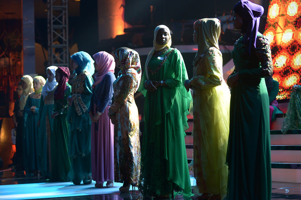 Women stood on stage during the finale.