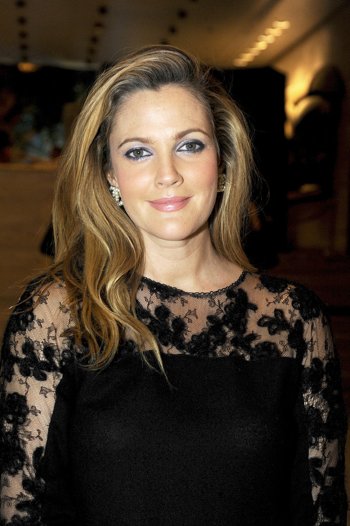 Drew Barrymore has really been stepping up her red carpet beauty lately, and the shimmering periwinkle eye shadow she wore at the New York City Ballet 2013 Fall Gala was no exception. We'll be filing this under a look to copy.