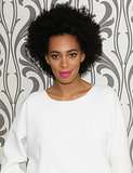 Leave it to Solange Knowles to prove that you really can wear white past Labor Day. And in that same vein, she forwent a typical Fall lipstick color and opted for hot pink.