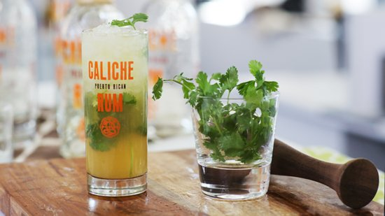A Rum Punch That Combines Aromatic Cilantro and Sweet Agave Nectar
