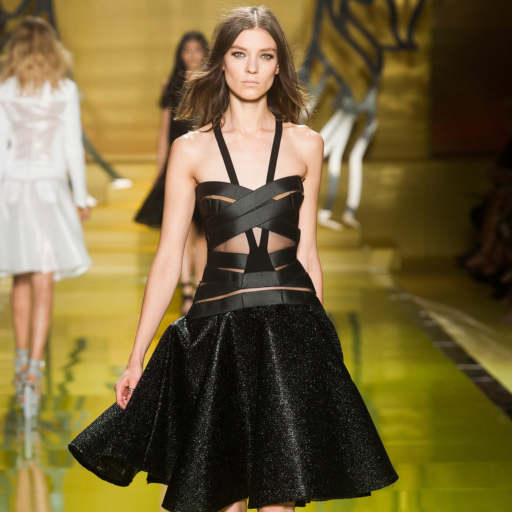 Versace Spring 2014: Circle Skirts and Sex Appeal