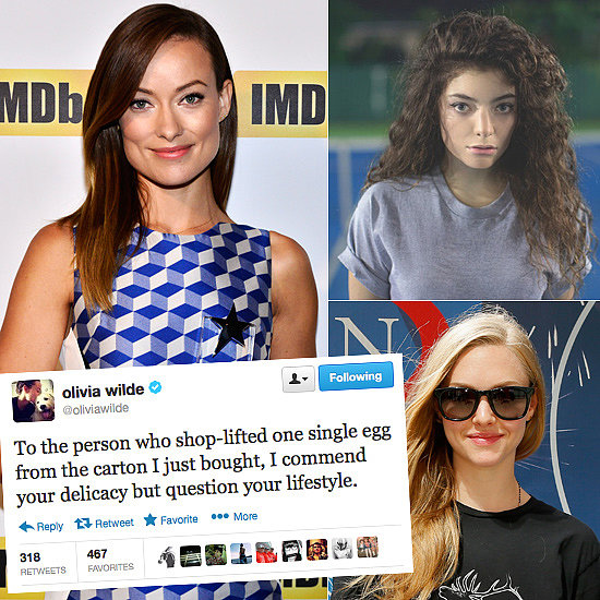 Celebrity Tweets of the Week: Olivia Wilde, Lorde, Amanda Seyfried & More!