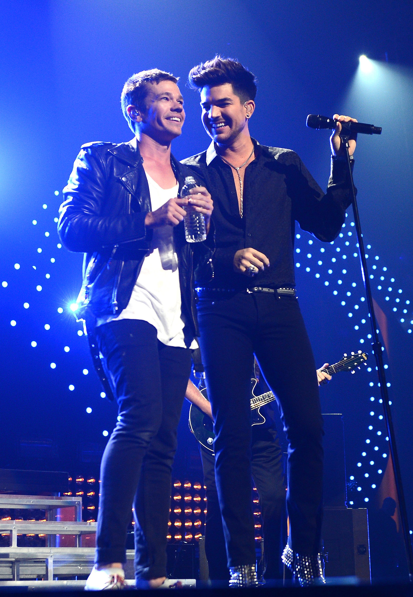Adam Lambert performed with fun.