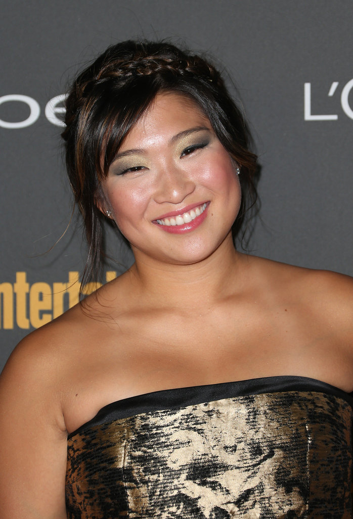 Jenna Ushkowitz's green and metallic shadow was simply stunning at Entertainment Weekly's pre-Emmys party.