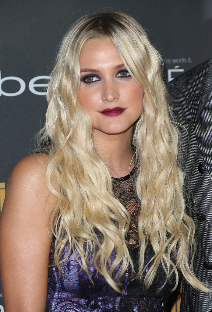 Ashlee Simpson opted for loads of waves and moody makeup at Entertainment Weekly's pre-Emmys party