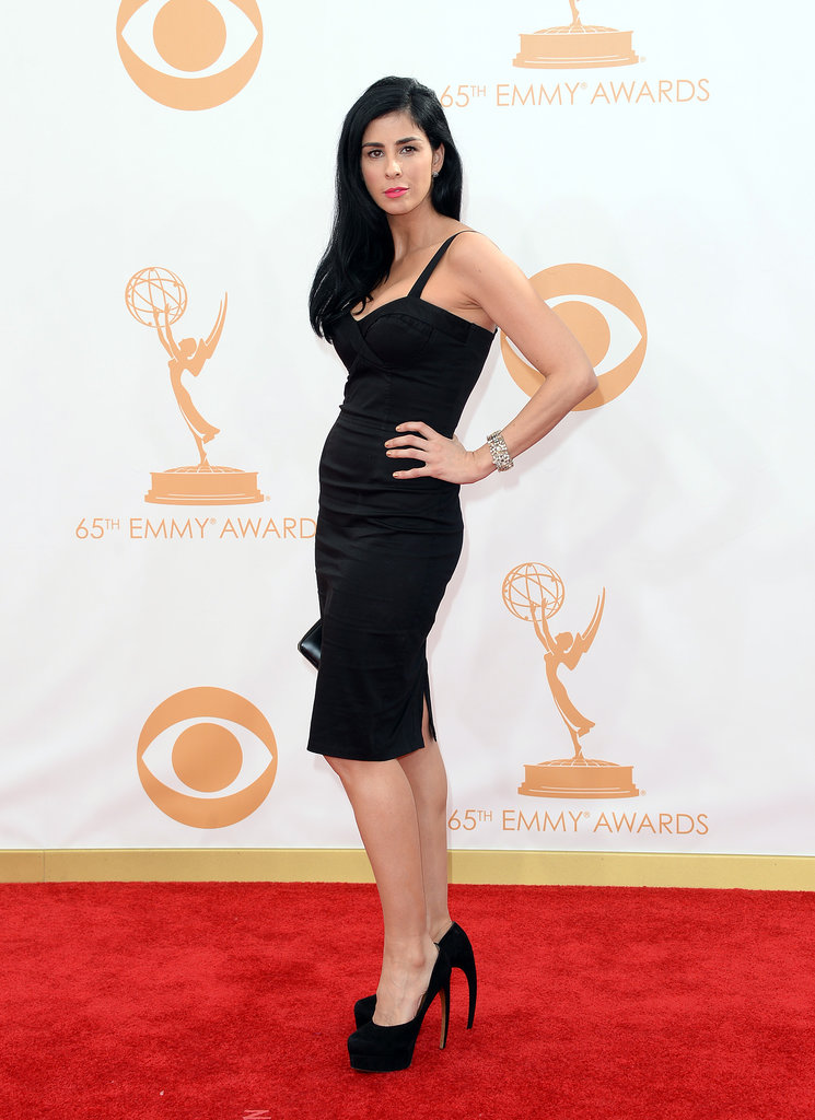 Comedian Sarah Silverman struck a pose at the Emmys.