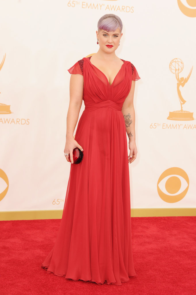Kelly Osbourne had her Kate Middleton moment in a red dress from the duchess's beloved Jenny Packham. And her shoes just might surprise you — they're from Aldo!