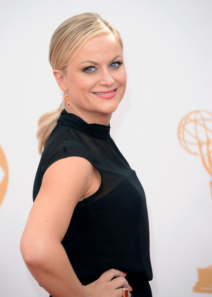 The low ponytail was a trend on the fashion runways, and apparently we'll be seeing more of it on the red carpet as well. Just take Amy Poehler as evidence.
