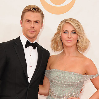 Julianne Hough and Derek Hough at the Emmy Awards 2013