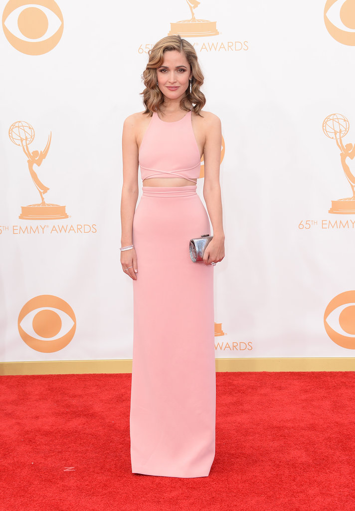 Seems like the crop top is in Hollywood, too! Rose Byrne flashed some stomach in this sleek Calvin Klein Collection style.