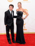 Michael J. Fox and Tracy Pollan walked the Emmys red carpet together.