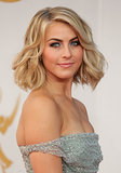 Julianne Hough took texture to new levels with her cropped cut, and her shimmering shadow played up both her blue eyes and her seafoam-hued Jenny Packham dress.