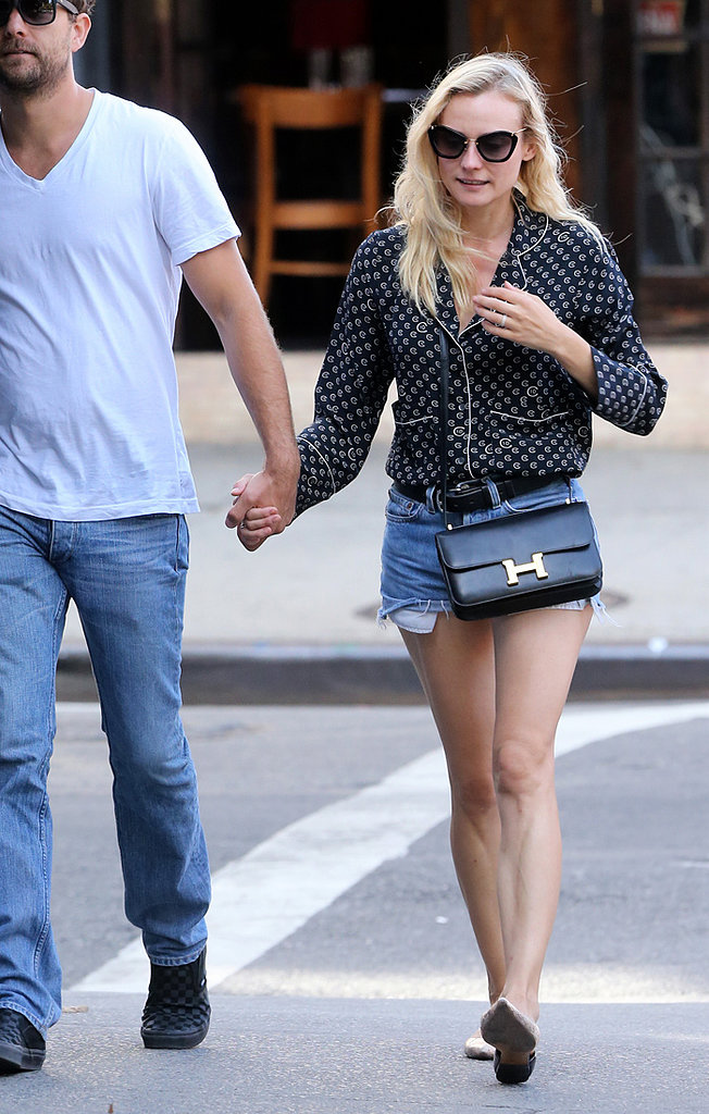 Diane Kruger in vintage and Hermes